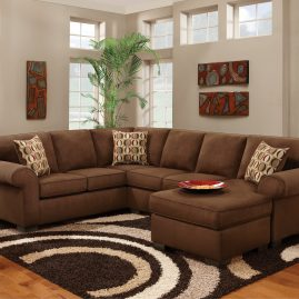 3050 Patriot Chocolate Sectional