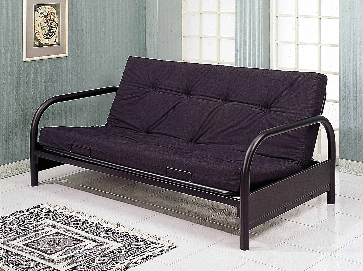 Black Full Size Futon Frame – AWFCO Catalog Site