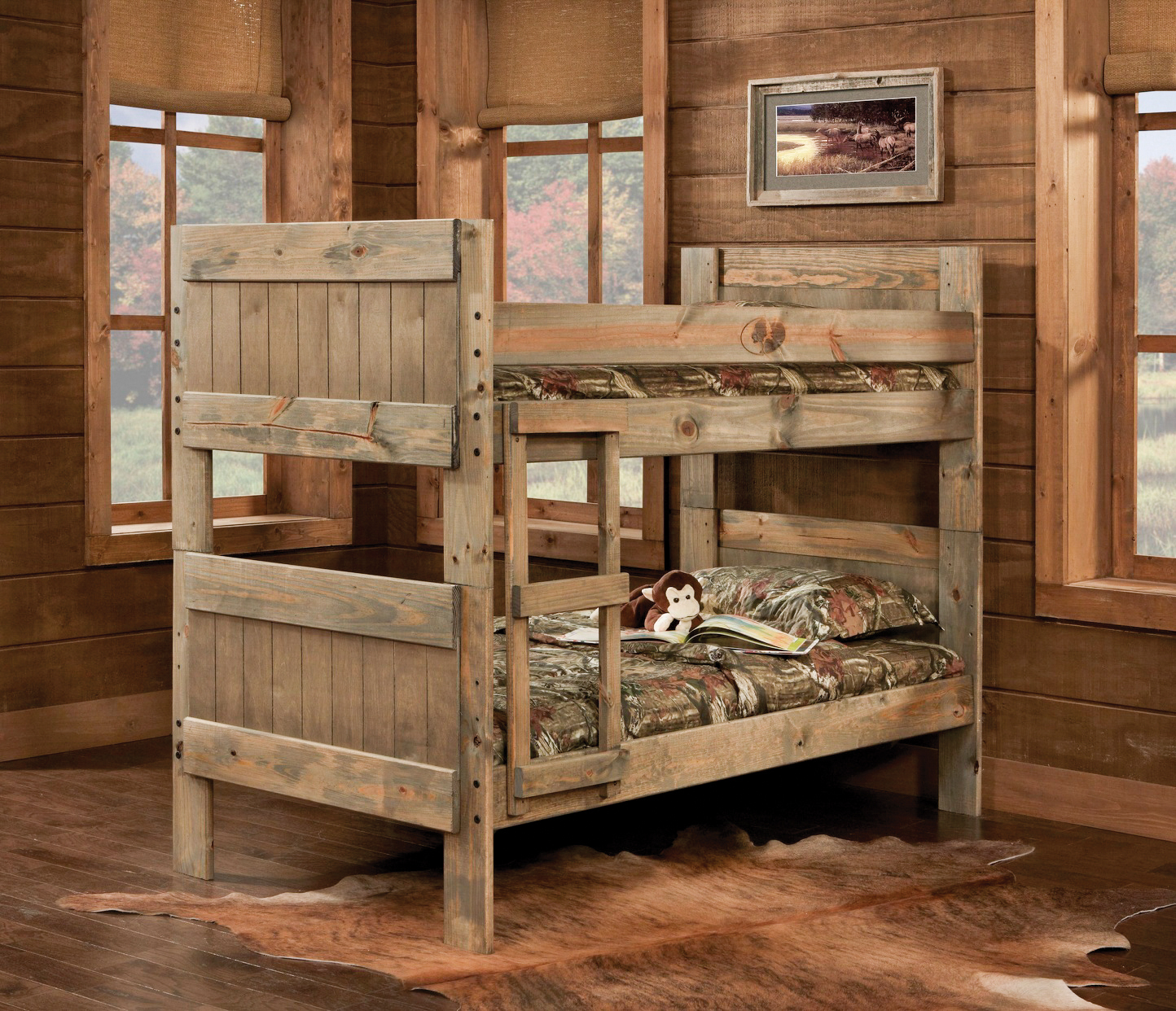 511 Mossy Oak Twin Twin Bunkbed Awfco Catalog Site