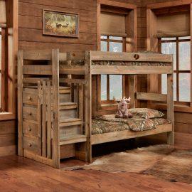 5989 Mossy Oak Twin/Twin Stairstep Bunkbed