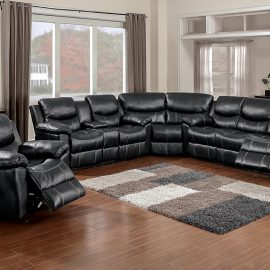 66008 Champion Black Sectional