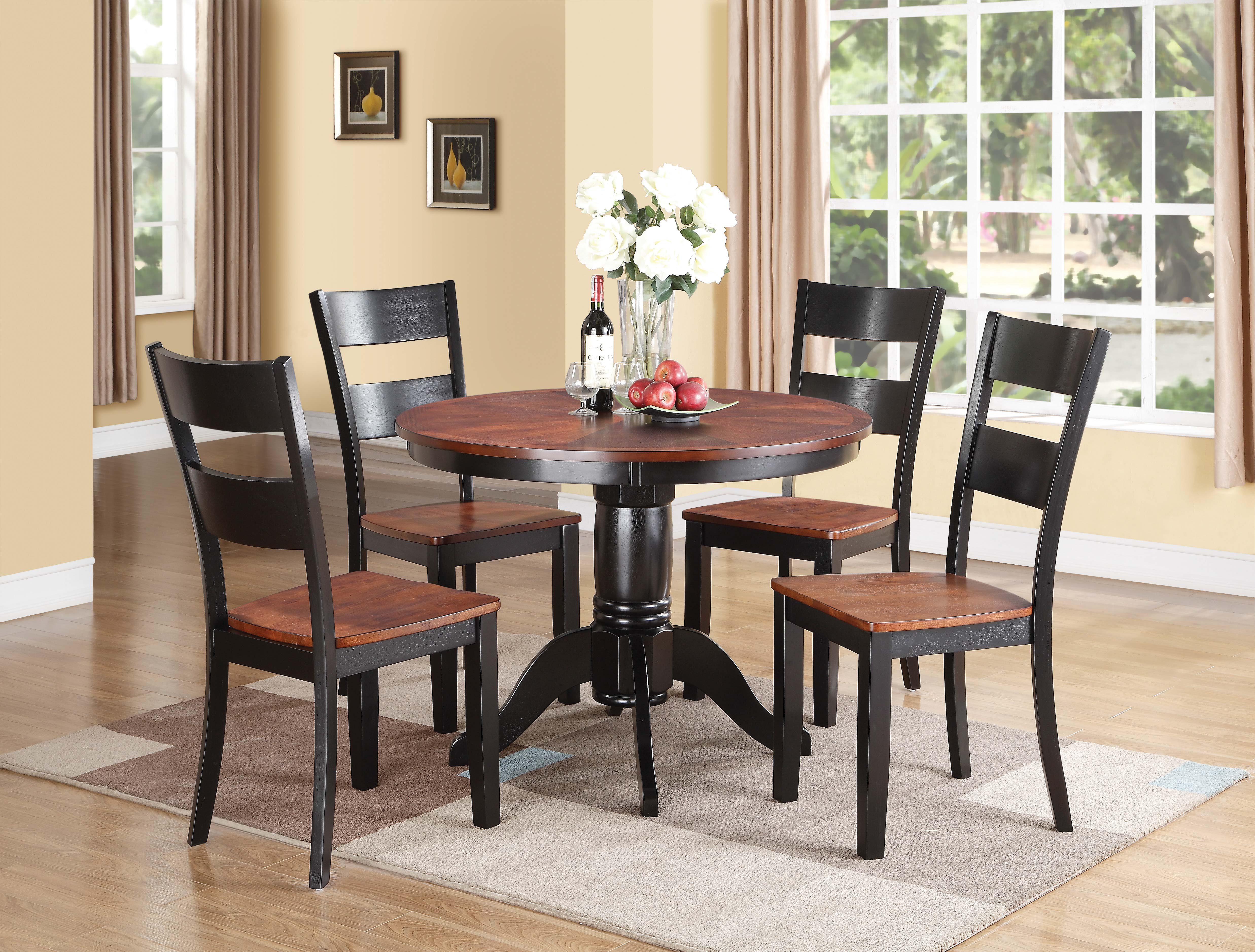 Black And Cherry Dining Table Black And Cherry Dining  : 8202BlackCherryPedestalTableDining from amlibgroup.com size 4948 x 3753 jpeg 1964kB