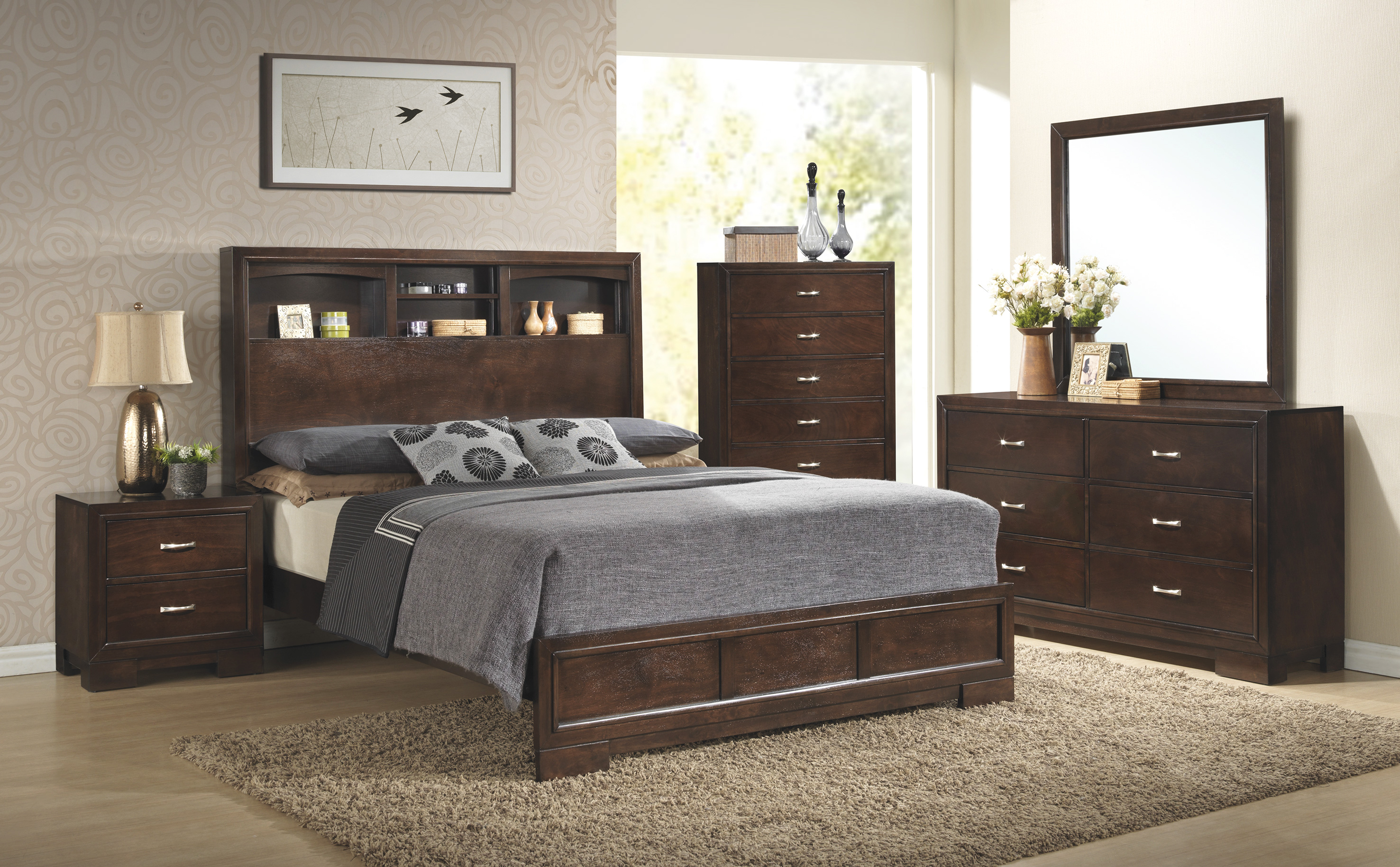 C4233a Walnut Bedroom Awfco Catalog Site