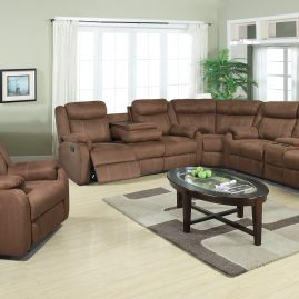 L9303 Chocolate Sectional