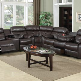 9435 Lite Brown Sectional