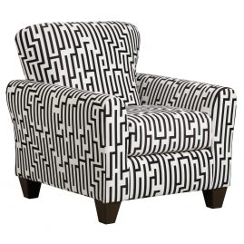 9001 Maze Black/White Accent Chair