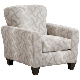 9001 Whirlwind Rhodium Accent Chair & Cocktail Ottoman