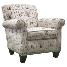 AC840A Lightrail Raven Accent Chair & Storage Ottoman