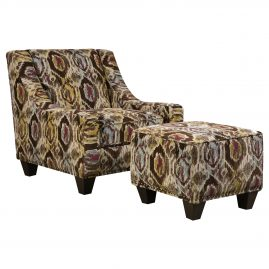 AC2044A Bodega Raisin Accent Chair & Accent Ottoman