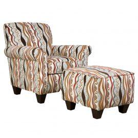 AC847A Casino Multi Accent Chair & Accent Ottoman