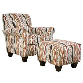 AC847A Casino Multi Accent Chair & Accent Ottoman