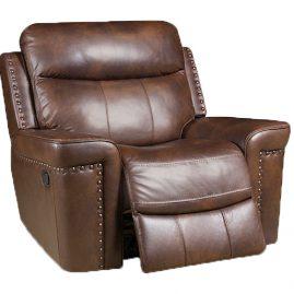 90301 Driftwood Recliner – Italian Leather