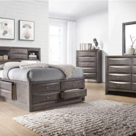 EG100 Emily Grey Storage Bedroom