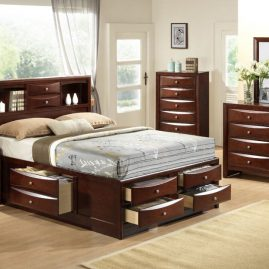 EM200 Emily Merlot Storage Bedroom