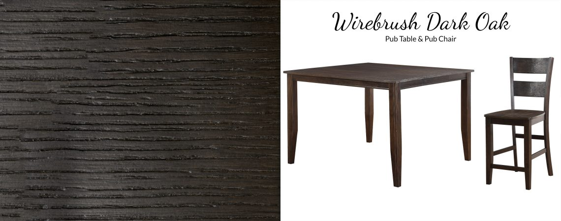 8204 Wirebrush Dark Oak Pub Table Awfco Catalog Site