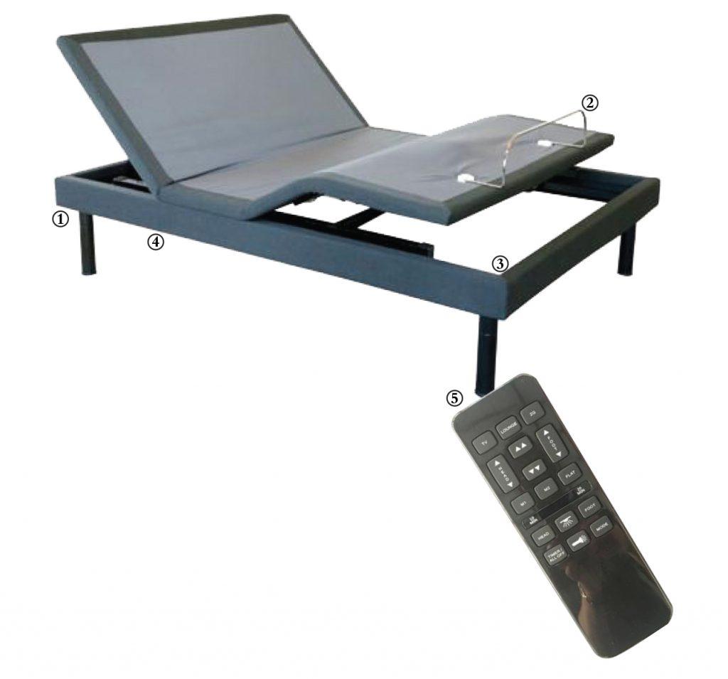 Cutaway of Freedom Adjustable Base