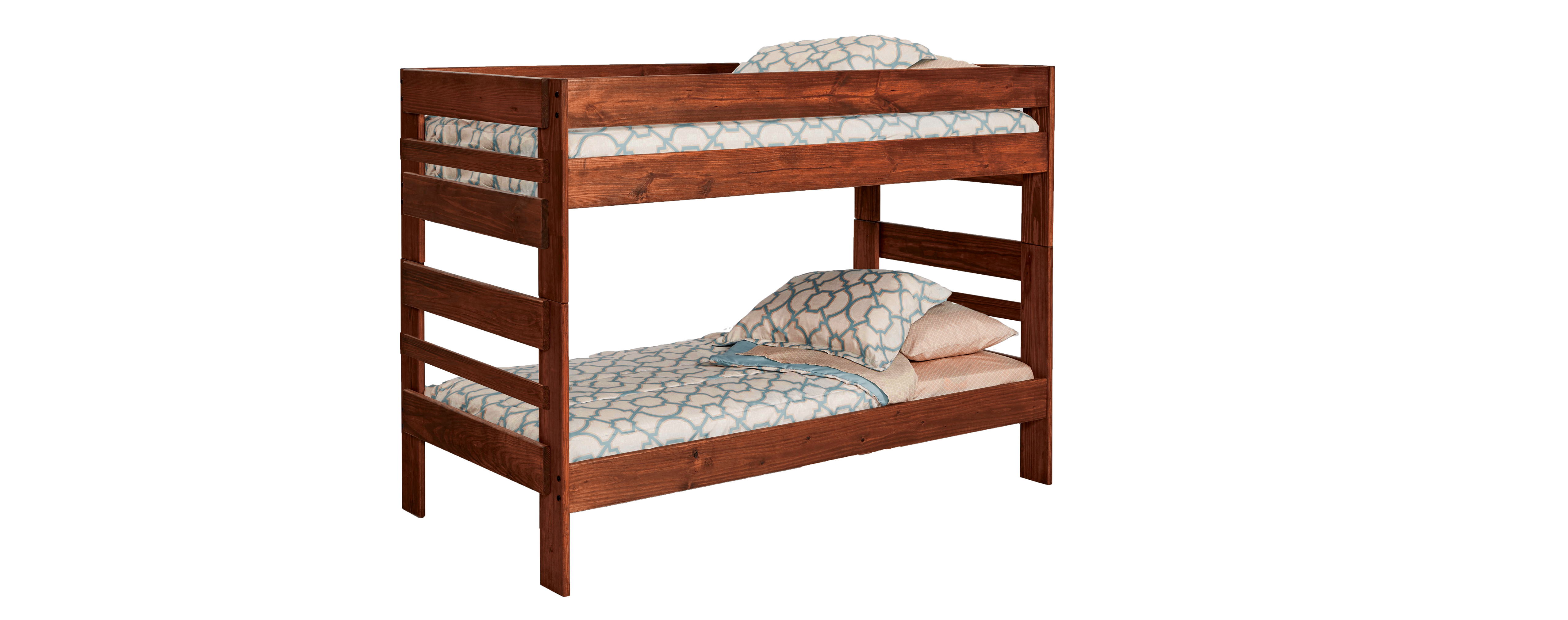 Picture of: 208 Twin Twin Stackable Chestnut Bunkbed Awfco Catalog Site